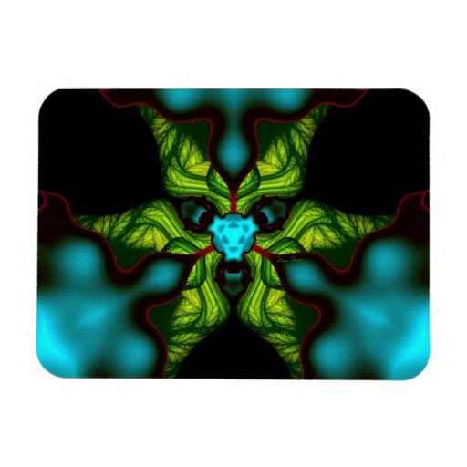 Demon Shadows – Emerald and Yellow Mask Rectangular Photo Magnet