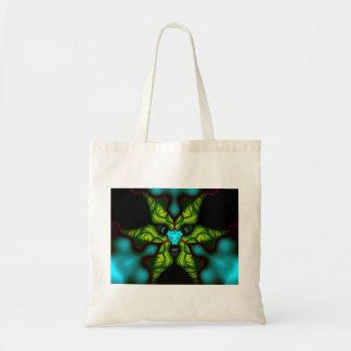 Demon Shadows – Emerald and Yellow Mask Tote Bag