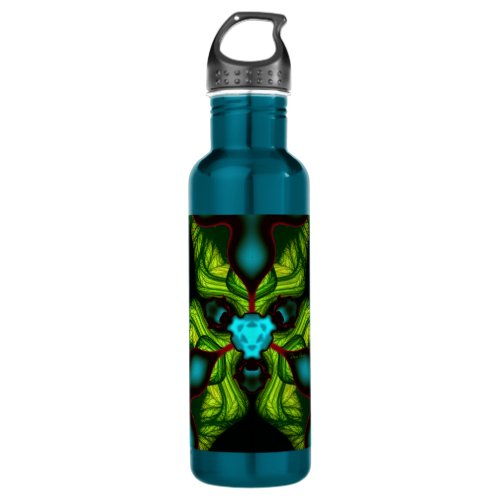 Demon Shadows – Emerald and Yellow Mask Water Bottle