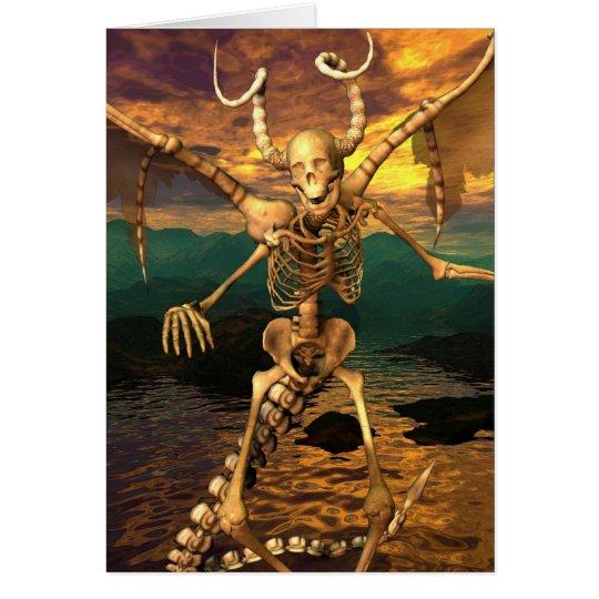 Demon Skeleton Card