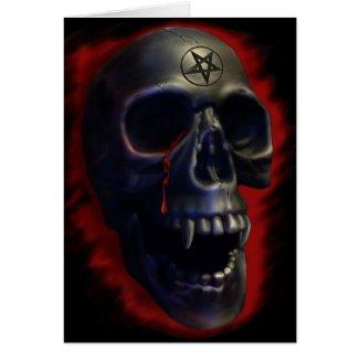 Demon Skull 1 Card zazzle_card