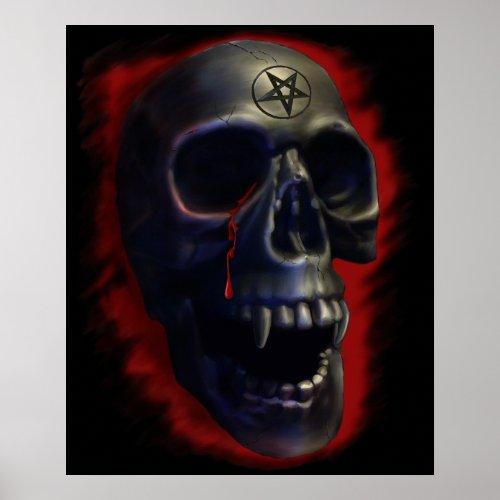 Demon Skull 1 Poster print