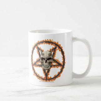 Demon Skull & Burning Pentagram Coffee Mug