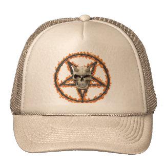 Demon Skull Burning Pentagram Trucker Hats