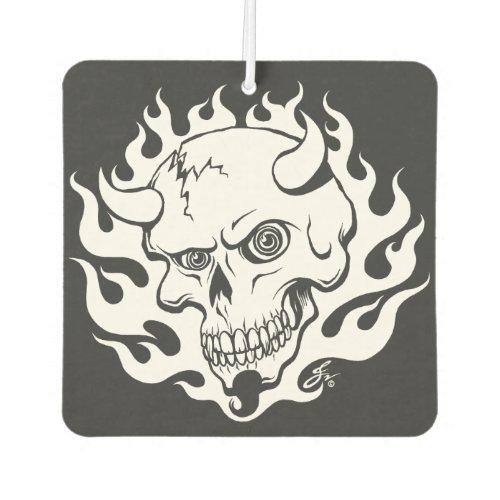 Demon Skull in Flames Air Freshener