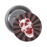 Demon Skull Pinback Button