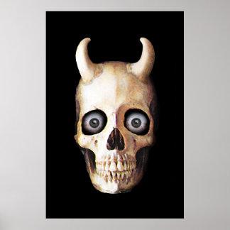 Demon Skull Poster