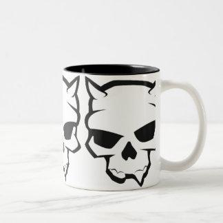 Demon Skull Two-Tone Coffee Mug