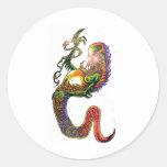 Demon Smoke Art Classic Round Sticker
