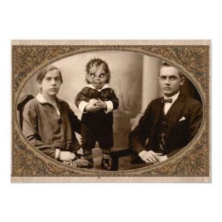 Demon Spawn Family Halloween Party Card