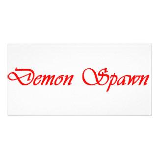 DEMON SPAWN PHOTO GREETING CARD
