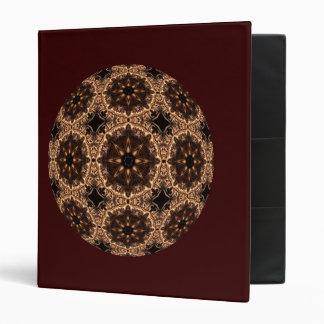 Demon Starburst Kaleidoscope Mandala 3 Ring Binders