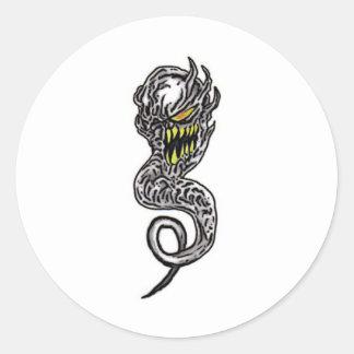 Demon Tattoo Art Classic Round Sticker