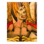demon teeth monster fear terror halloween postcard