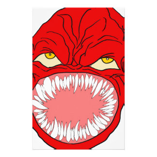 Demon Tooth Face Art Stationery
