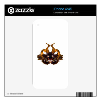 Demon Tribal Mask Decals For The iPhone 4S