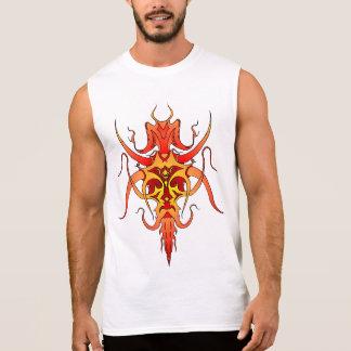 Demon Tribal Tattoo - red and yellow Sleeveless Shirt