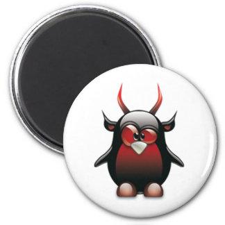Demon Tux (Linux Tux) 2 Inch Round Magnet