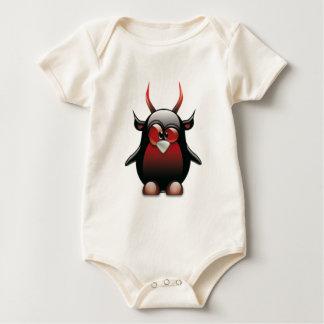 Demon Tux (Linux Tux) Baby Bodysuit