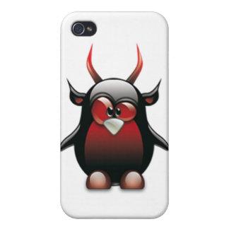 Demon Tux (Linux Tux) iPhone 4 Case