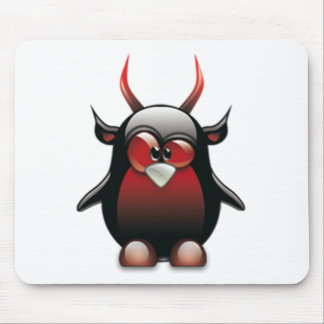 Demon Tux (Linux Tux) Mouse Pad