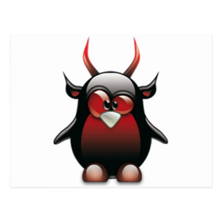Demon Tux Linux Tux Postcard