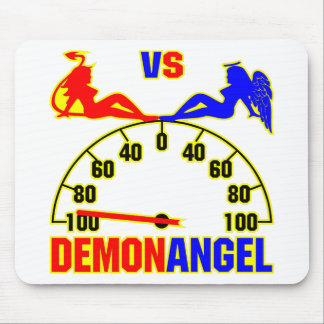 Demon vs Angel Girls Mouse Pad