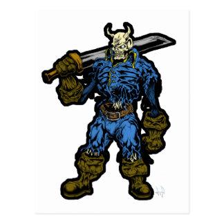 Demon Warrior Post Cards