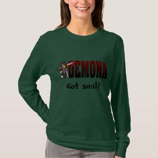 Demona Long Sleeve Army Black T-Shirt