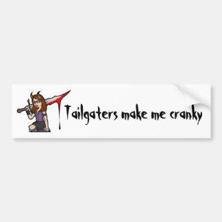 Demona Tailgate Car Bumper Sticker