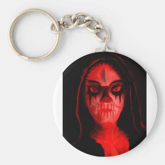 Demoness Basic Round Button Keychain