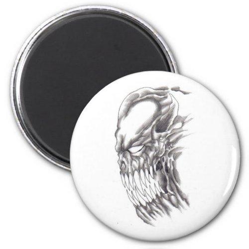 Demonic Art Demonic Face Magnet magnet