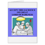 demonic doctor / surgeon joke greeting card