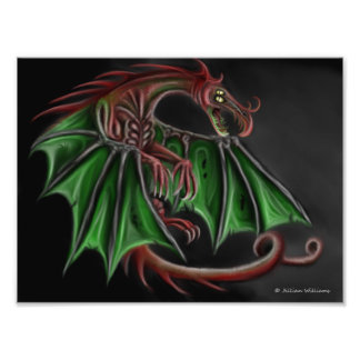 Demonic Dragon Photo Print