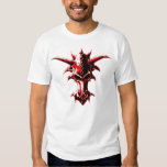 Demonic Dragon Skull Red T-Shirt
