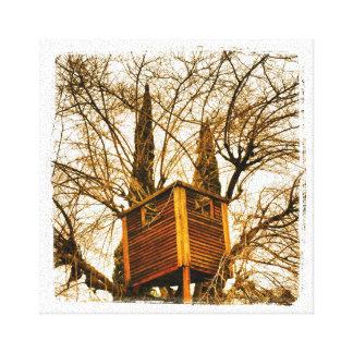 Demonic Electric Treehouse canvas