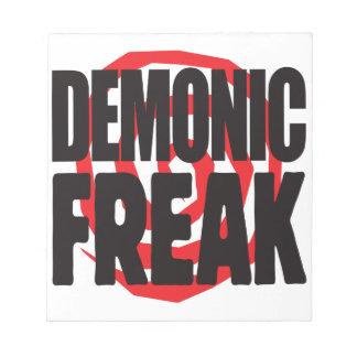 Demonic Freak Memo Pads