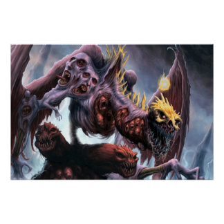 Demonic Hell Spawn Poster