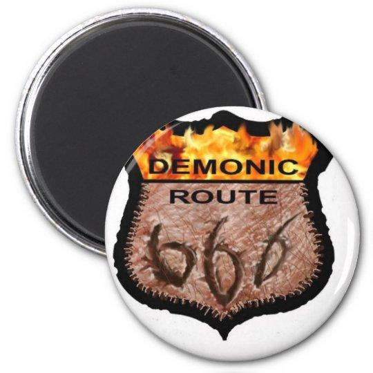 Demonic Route 666 Magnet