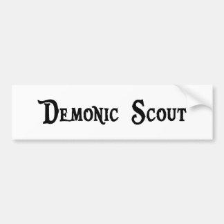 Demonic Scout Bumper Sticker