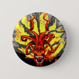 Demonic Skull Button