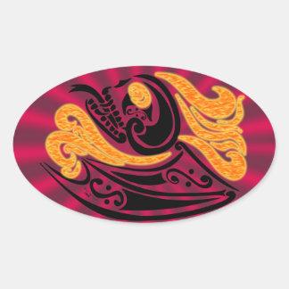 Demonica Oval Stickers