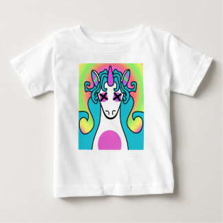 Demonimals Bright Rainbow unicorn version Baby T-Shirt