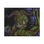 Demonio amistoso lienzo envuelto para galerias