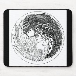 Demonio-Ángel Yin-Yang Alfombrilla De Ratones