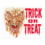 Demonio de fusión Halloween Tarjeta Postal