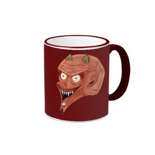 Demonio de griterío tazas de café