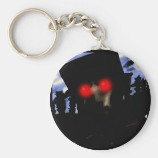 Demonio de Halloween Llavero Redondo Tipo Pin