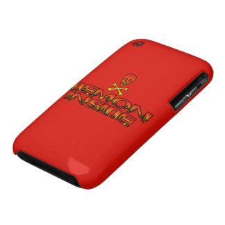 Demonio de HotterThanHell dentro de la caja de la  iPhone 3 Case-Mate Cárcasas