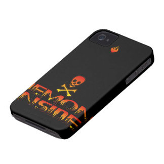 Demonio de HotterThanHell dentro de la caja intrép Case-Mate iPhone 4 Funda